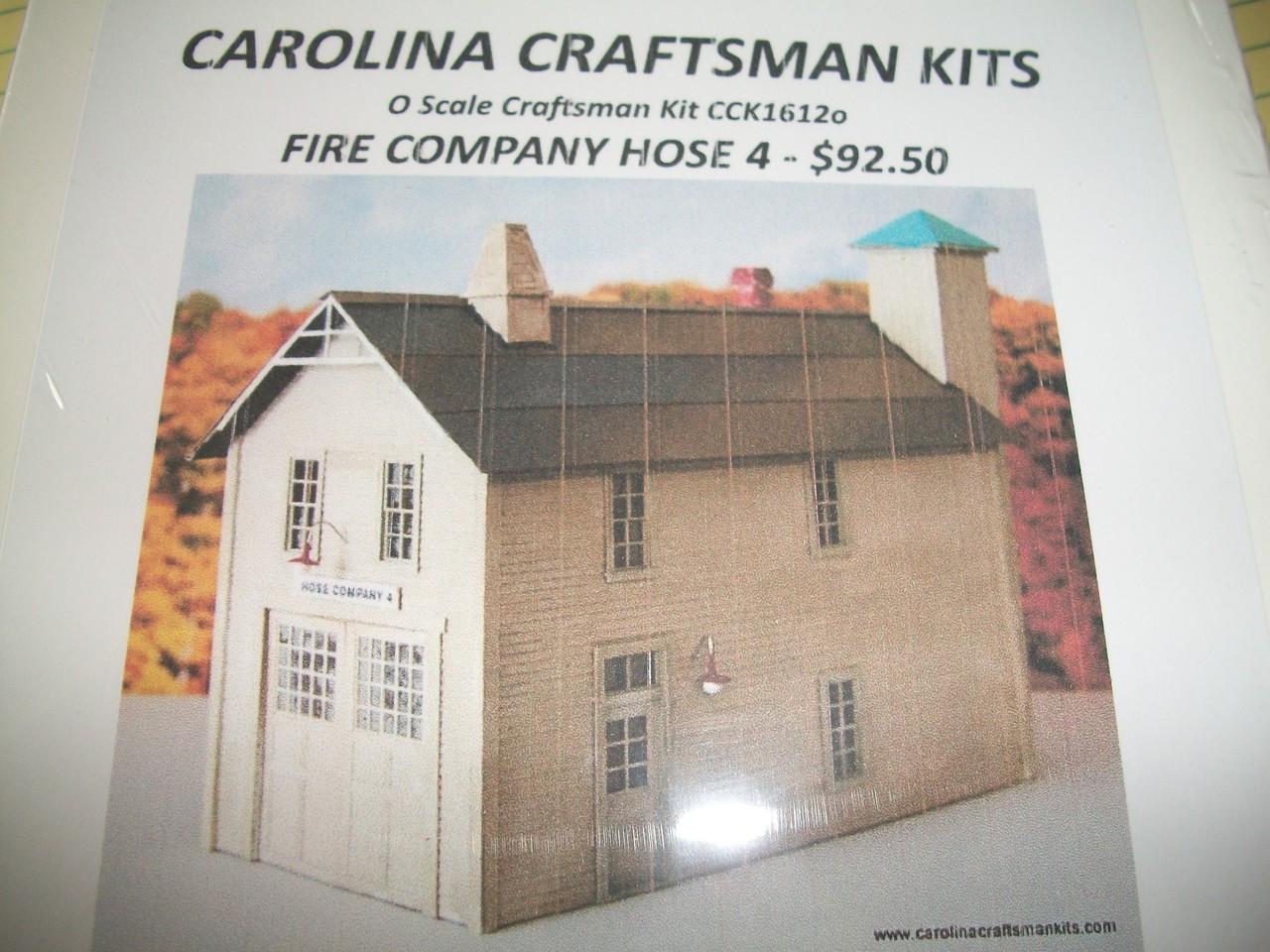 CCK O Scale Fire Company Hose #4 Lit CCK1612o - Bob the