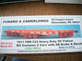Funaro  HO Scale Kit  #7011  Pennsylvania PRR F22 Heavy Duty 30 ft flat car kit 2 pack