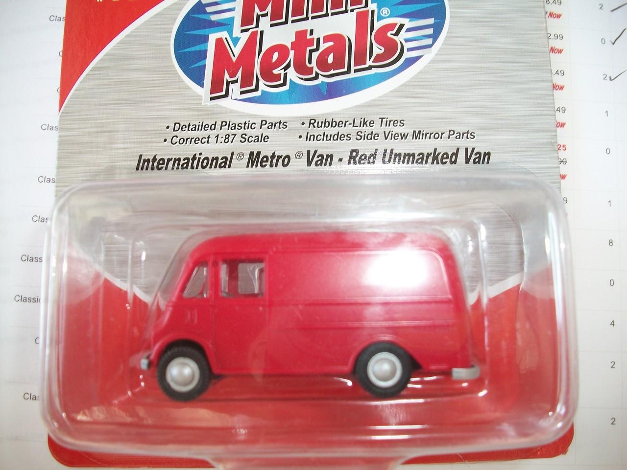 Classic Metal Works International Metro Van Nabisco  HO-1//87th New 30389