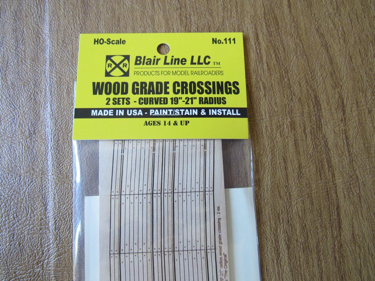 "130 2 BLAIR LINE HO 2-LANE CURVED 36/"" RADIUS WOOD GRADE CROSSING"