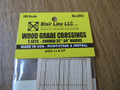 "Blair Line HO Scale Laser-Cut 2-Lane Curved  Wood Grade Crossing  32-34"" Radius #2802"