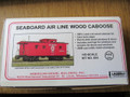 AMB LaserKits HO Scale Seaboard Air Line SAL Wood Side Caboose Kit #854