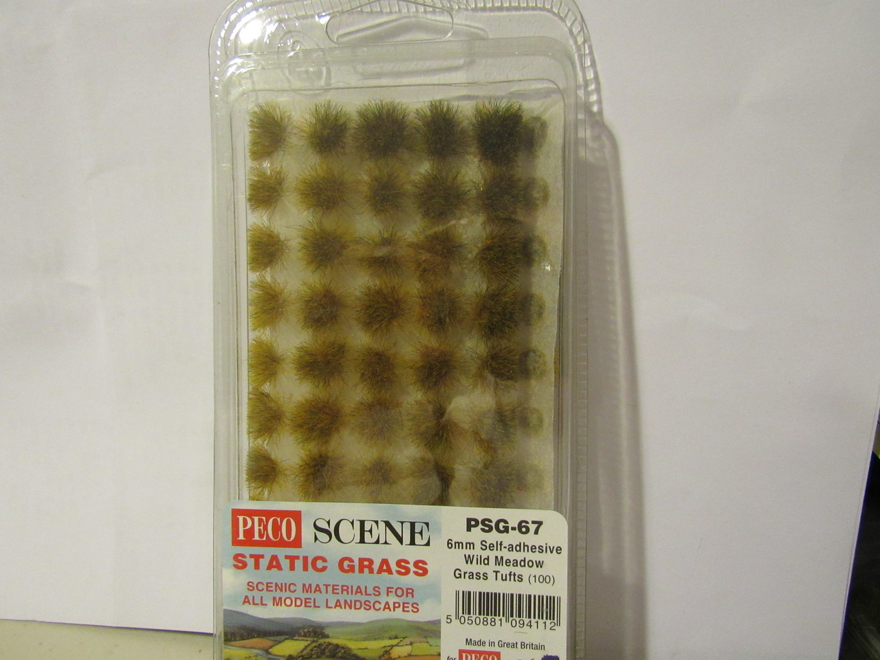 Peco Scene Static Grass Wild Meadow Grass Tufts (100g) 6mm
