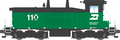 Broadway Ltd HO Scale Paragon 3 Sound/DC/DCC  EMD SW7 BN #110