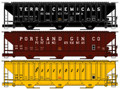 Accurail HO Scale Pullman Standard Covered Hopper 3 Pack! Terra Chemicals, Portland Gin, Honeymead