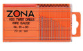 Zona Twist Drill set 20 piece  #61-80