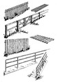 Central Valley HO Scale #1600 Duo Pack Fences and Ladders Now in Brown