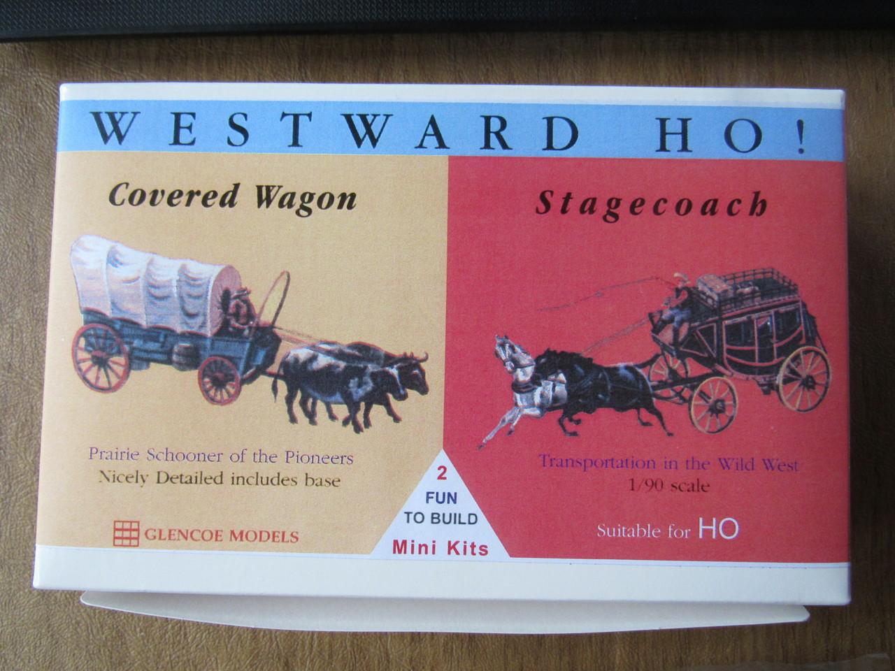 Glencoe Models HO Scale (1/90) Westward HO  Covered Wagon +