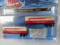 BOGO  Classic Metal Works N Scale '40s/50s Aero Van Trailers Santa Fe 2 pack #51179