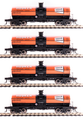 BLI HO Scale 6000 gallon tank car  4 pk HOOKER