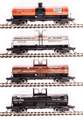 BLI HO Scale 6000 gallon tank car  4 pk Variety D