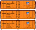Accurail 3 car set 40ft Steel Reefers PFE