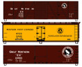 Accurail HO Scale 50ft  Wood Reefer Great Northern 3 cars  set #8110
