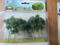 JTT Scenery Products HO Scale Woods, Edge Trees Green 9 pk