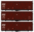 Accurail HO Scale 36ft Fowler Wood Box Car Canadian National 3 pack