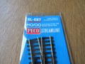 Peco HO/OO Scale Code 100 SL-E87 Large Radius Curved Left Hand Turnout