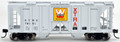 Bowser HO Scale  70 ton covered hopper Xtra Western Pacesetters XTRA 78205