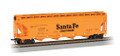 Bachmann HO Scale Silver Series 56 ft ACF Center-Flo Covered Hoppers Santa Fe  ATSF  101411