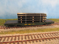 Bachmann HO Scale Silver Series 50 ft Flat Car with Steel Pipe Load Maine Central MEC 7505