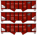 Accurail HO Scale 55 ton USRA Twin Hoppers Chicago & North Western 3 pack