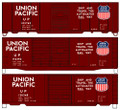 Accurail HO Scale 40ft Steel Single Door Box Car 3 pack UNION PACIFIC UP