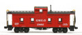AMB LaserKits HO Scale GM&O Plywood Side Wood Cupola Caboose #890