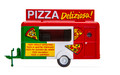 Oxford Diecast HO Scale Commercial Food Trailer Pizza