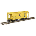 Atlas HO TM PS-2 COVERED HOPPER B&O [CHESSIE] #631247