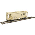 Atlas HO TM PS-2 COVERED HOPPER CSX [W/CONSPICUITY STRIPES] #226416