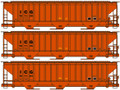 Accurail HO Scale Pullman Standard Covered Hopper 3 Pack! Illinois Central Gulf