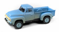 Classic Metal Works  HO 1954 Ford Pickup Truck, Glacier Blue (Dirty/Weathered)