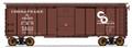Intermountain HO 1937 AAR 40ft 10ft door Box Car C&O Deco Ends #5438