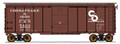 Intermountain HO 1937 AAR 40ft 10ft door Box Car C&O Deco Ends #5496