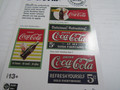Classic Metal Works Coca Cola 1940s+ Building Sign Decals