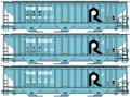 Accurail HO Scale Pullman Standard Covered Hoppe C&NW/ Rock Island 3 car set