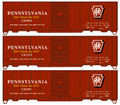 Accurail HO Scale 40ft Steel Single Door Box Car 3 pack PENNSYLVANIA  Don't Stand Me Still