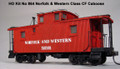 AMB LaserKits HO Scale N&W Norfolk and Western CF Caboose Kit #864