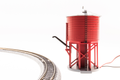 Broadway Ltd N Scale Water tower with sound Barn Red Unlettered