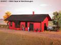 AMB LaserKits HO Scale CB&Q Depot West Kit #157