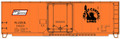 Accurail HO Scale 40ft Plug Door Box Car Central New Jersey NJDX 1423