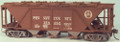 Funaro HO Scale Kit 6840 - Pennsylvania H30 Covered Hopper - White Circle Keystone Decals