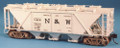 Funaro HO Scale Kit 6851 - Norfolk & Western HC1 Covered Hopper With Decals