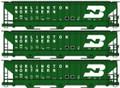 Accurail HO Scale PS 4750 Grain Hopper KIT BN 3 pack