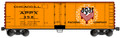 Accurail HO Scale 40ft Steel Reefer AGAR Packing APPX 358