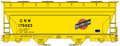Accurail HO ACF 2-Bay Covered Hoppers C&NW 175023