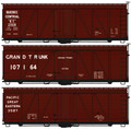 Accurail HO Scale 36ft Fowler Wood Box Car  Quebec Central, Grand Trunk, Pac Great Eastern 3 pack