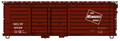 Accurail HO Scale 40ft Rib-Side Box Car  Double Door MILWAUKEE ROAD MILW 6849