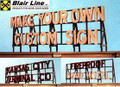 "Blair Line Laser Cut DIY ""Do It Yourself"" CUSTOM SIGN-N Scale  #1550"