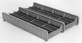 Micro Engineering HO Scale 50 foot Thru Girder Bridge Kit Double Track #75-521
