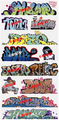 Blair Line N Scale Graffiti Decals Mega Set #10